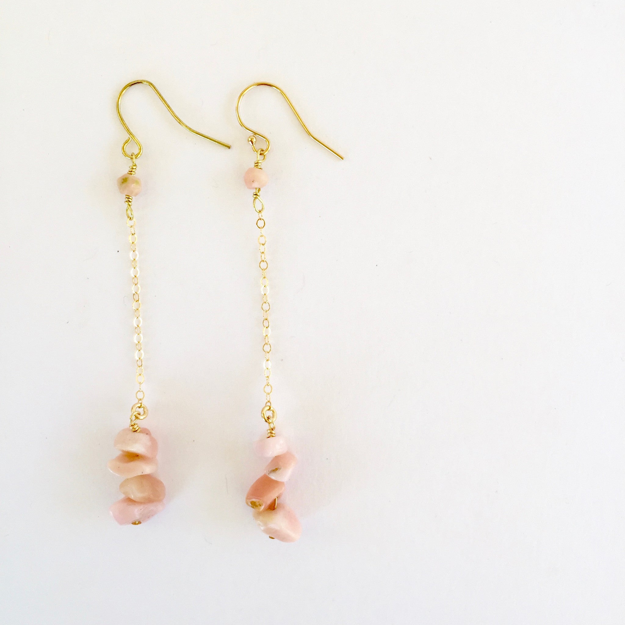 Shelly Earrings in Pink Opal