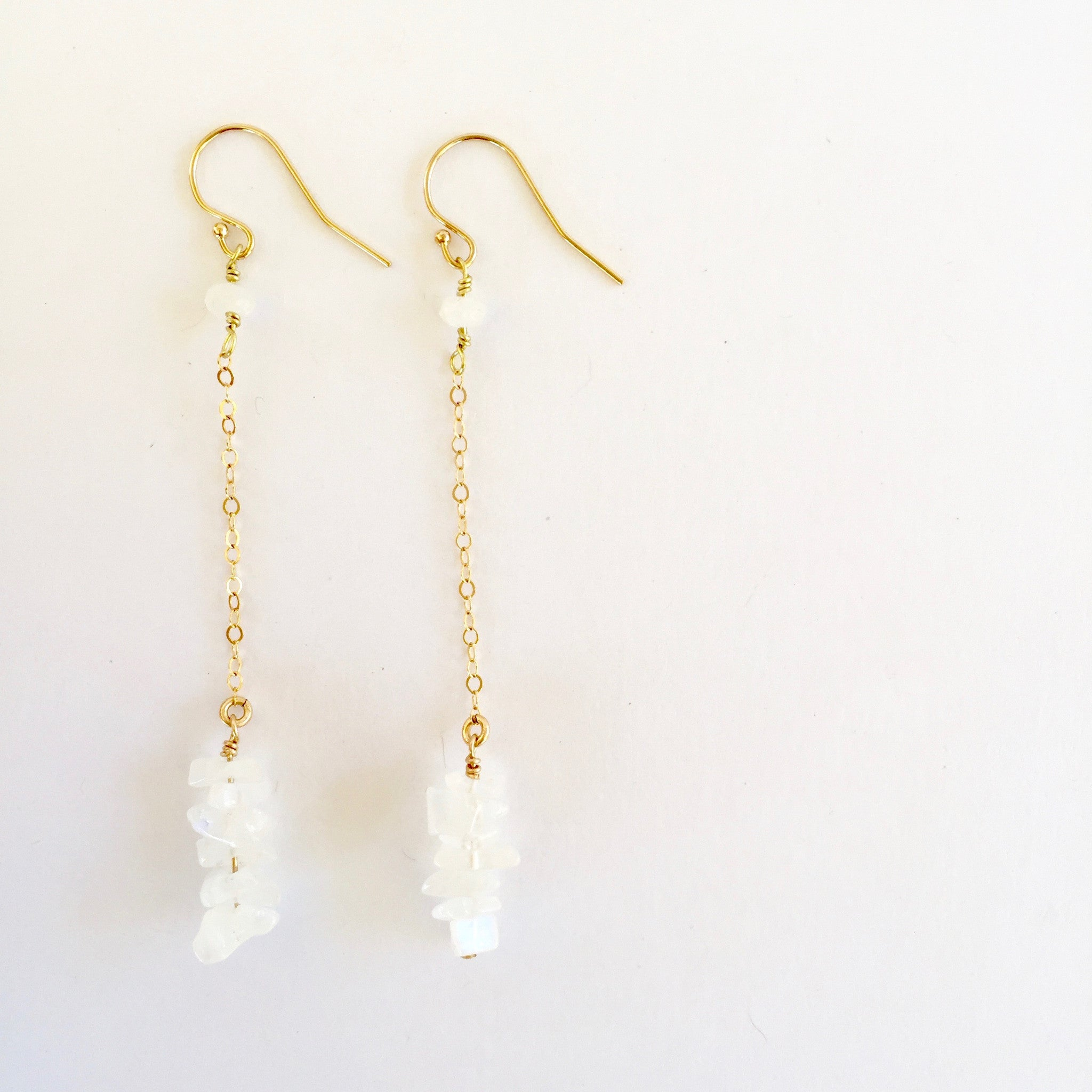 Shelly Earrings in Moonstone