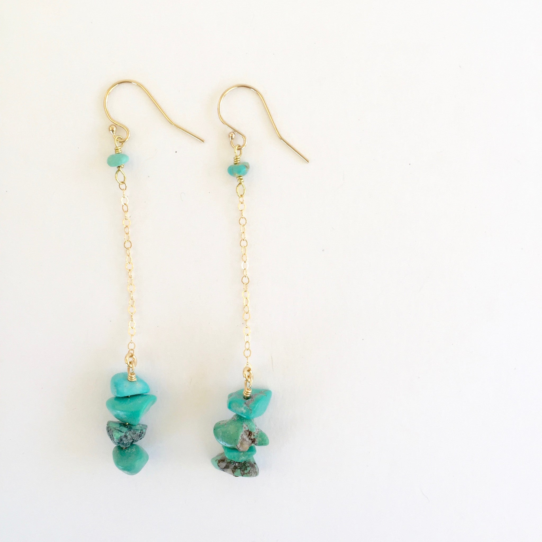 Shelly Earrings in Turquoise