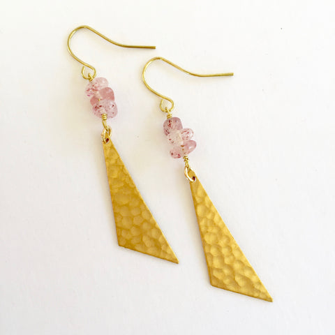 Harper Earrings in Strawberry Quartz