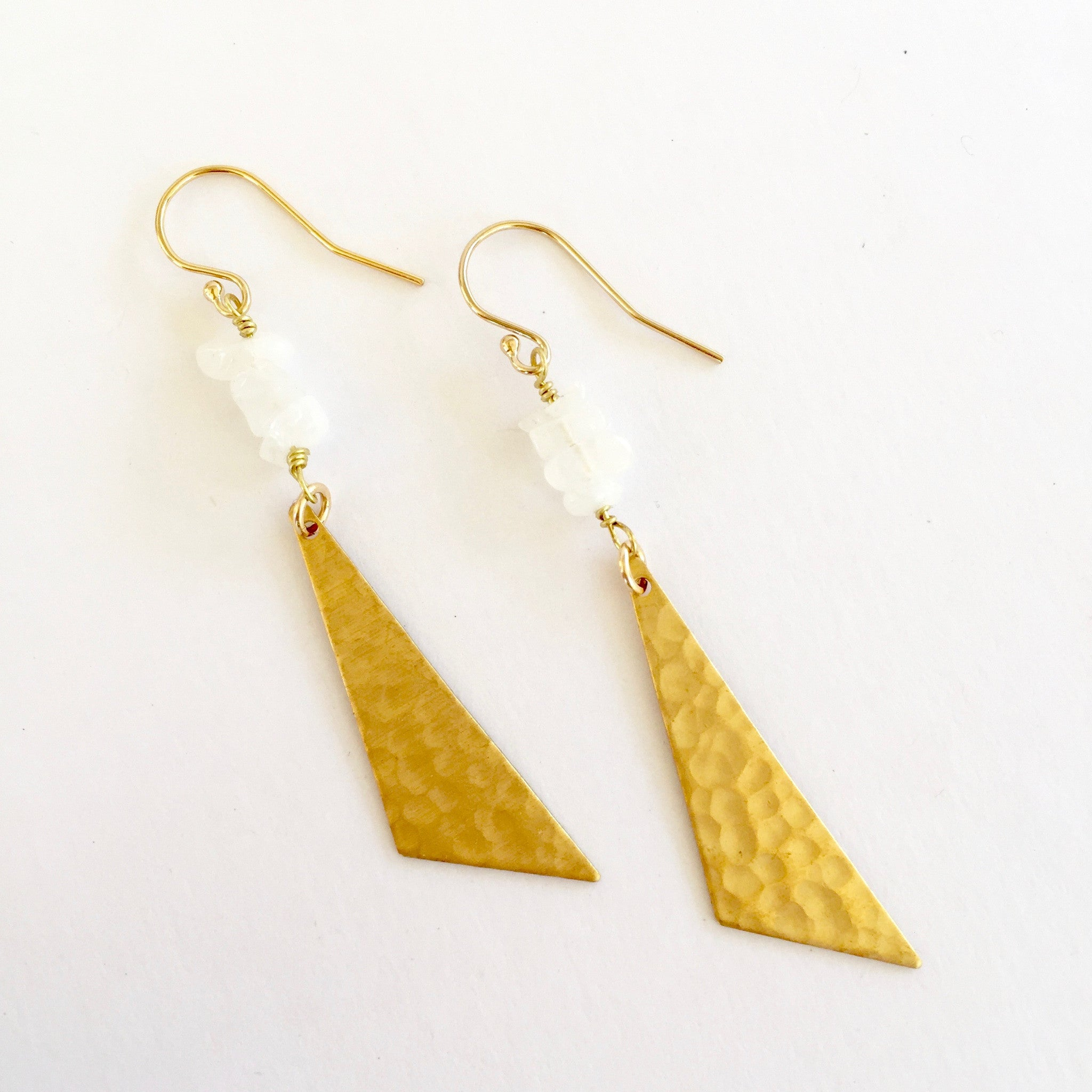 Harper Earrings in Moonstone