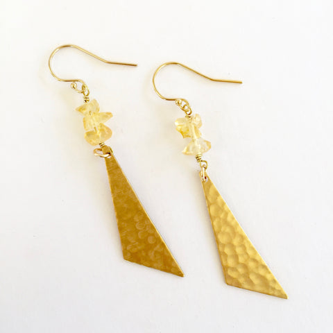 Harper Earrings in Citrine