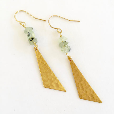 Harper Earrings in Prehnite