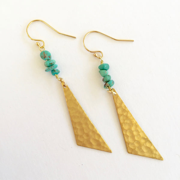 Harper Earrings in Turquoise