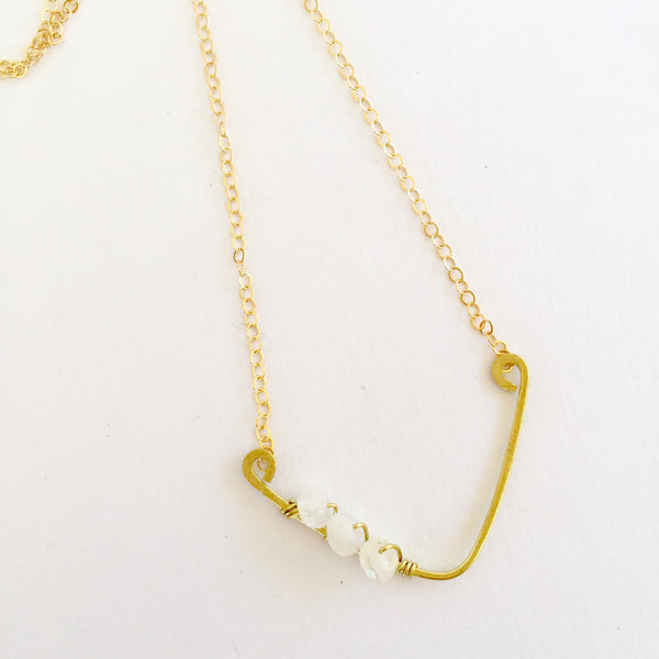 Mini Sindy Necklace in Moonstone