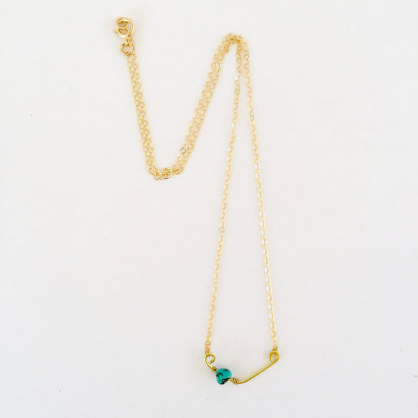 Tiny Sindy Necklace in Turquoise