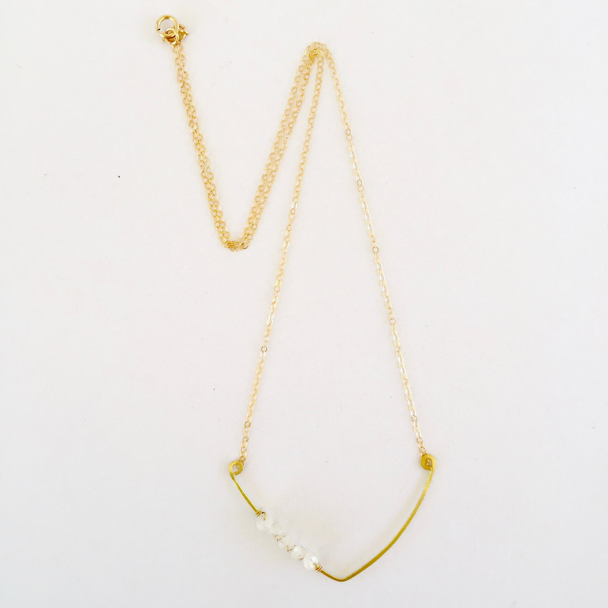Sindy Necklace in Moonstone