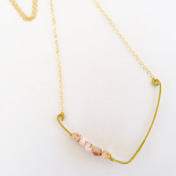 Sindy Necklace in Pink Opal