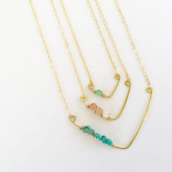 Mini Sindy Necklace in Turquoise