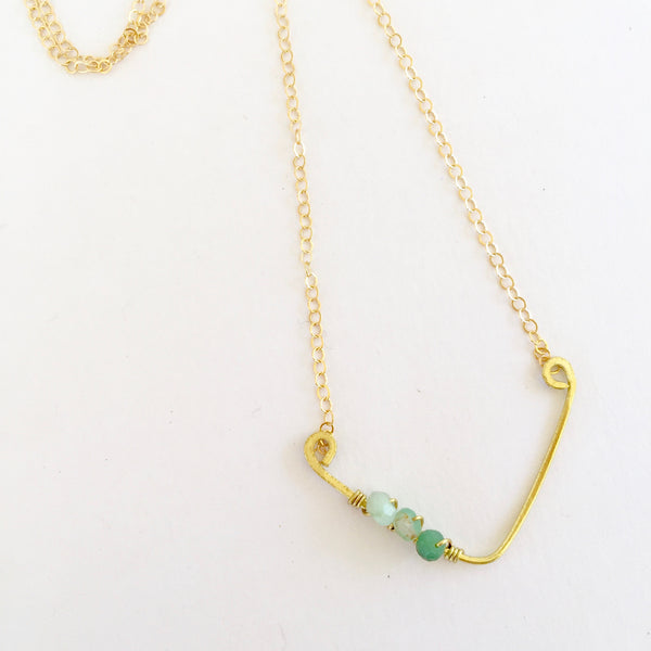 Mini Sindy Necklace in Chrysoprase