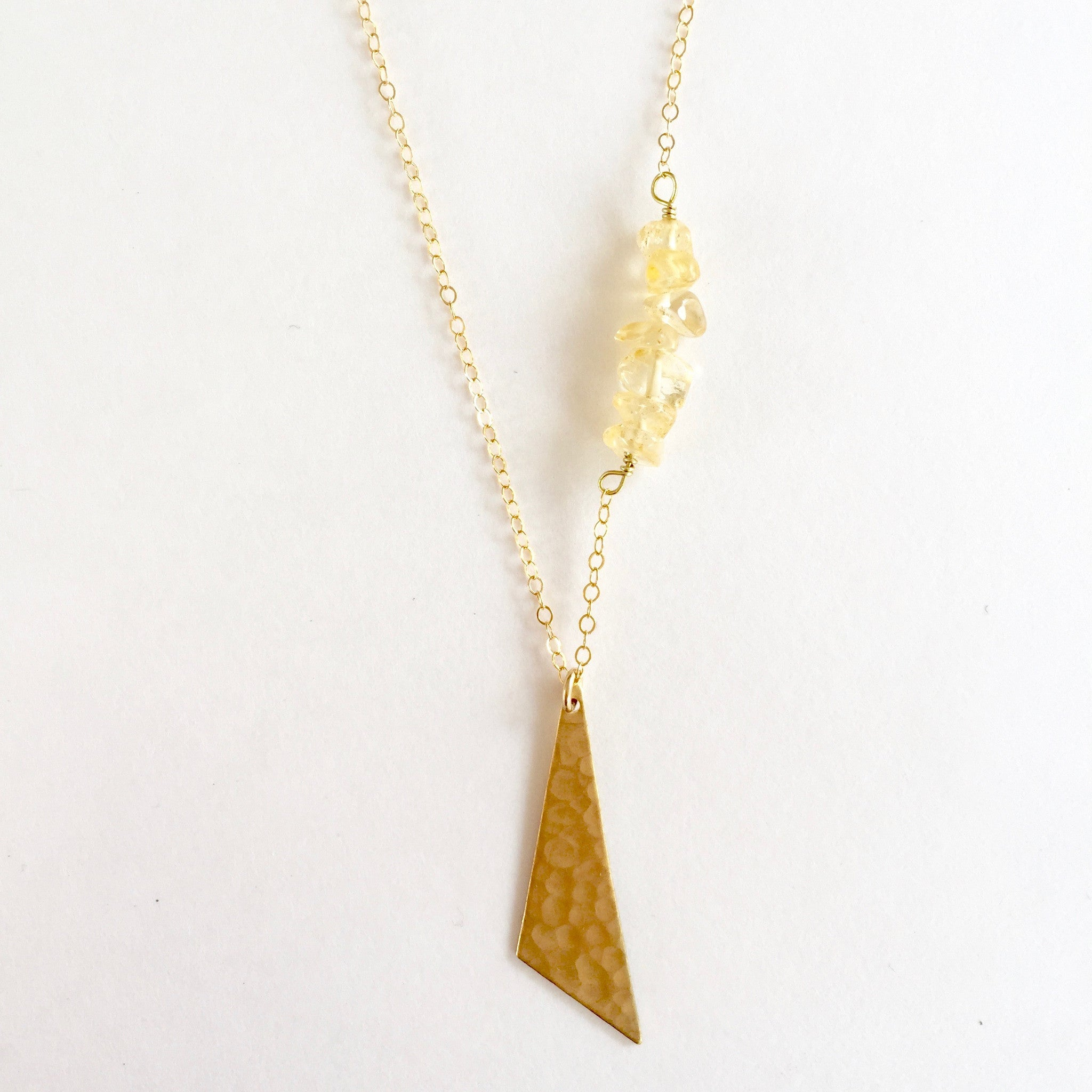 Harper Necklace in Citrine