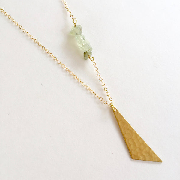 Harper Necklace in Prehnite