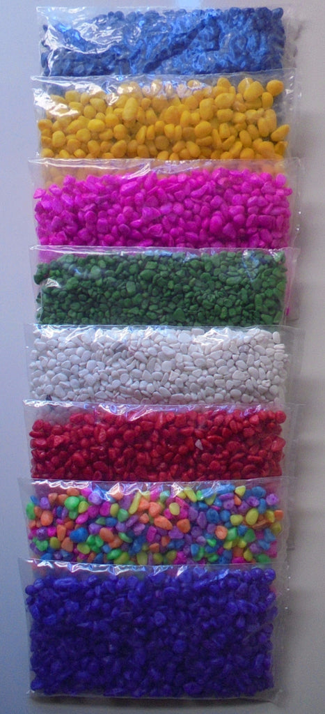 ~AQUARIUM GRAVEL / 8 DIFFERENT COLOURS / 250g BAGS~