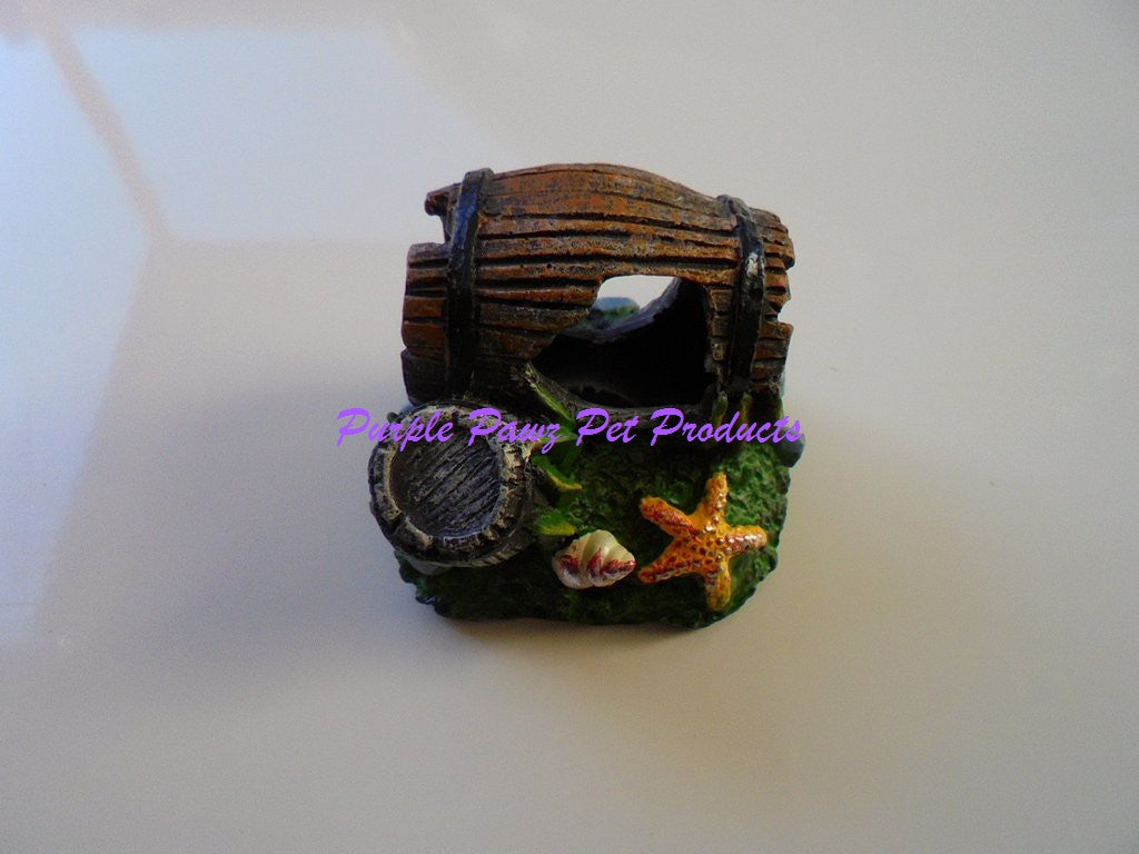 ~MINI BARREL AQUARIUM ORNAMENT~