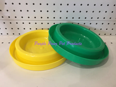 ~ANT FREE / DOG OR CAT BOWLS / 2PK / YELLOW/GREEN~