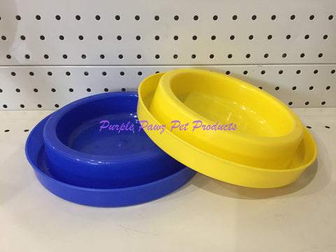 ~ANT FREE / DOG OR CAT BOWLS / 2PK / BLUE/YELLOW~