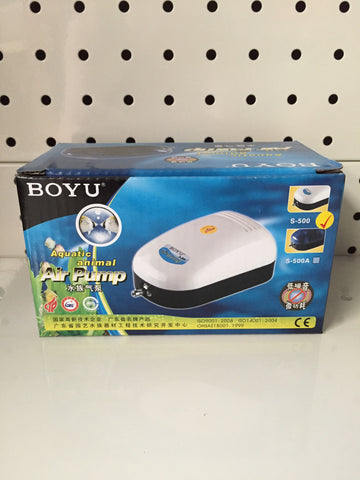 ~BOYU AIRPUMP SINGLE OUTLET S500~