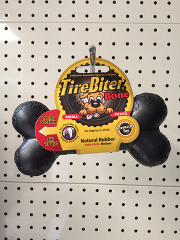 ~TIRE BITER BONE DOG TOY~