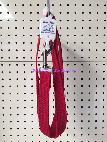 ~BEAU PETS / COTTON WEBBING / DOG LEAD / 25MM x 120CM / RED~