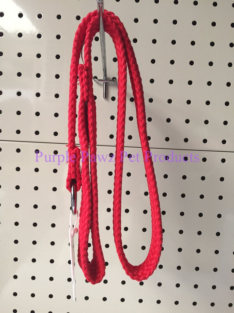 ~BEAU PETS / DOG LEAD / NYLON / SLIP / RED / 20MM x 90CM~