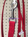 ~BEAU PETS / COTTON WEBBING / DOG LEAD / 20MM x 120CM / RED~