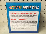 ~UNIPET / ACTIVITY TREAT BALL / DOG TOY / SMALL / BLUE~