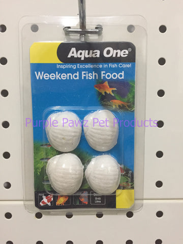 ~AQUA ONE / WEEKEND FISH FOOD / BLOCKS / 20G~