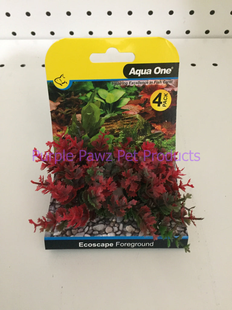 ~AQUA ONE / ECOSCAPE / FOREGROUND / RED / 4PK~