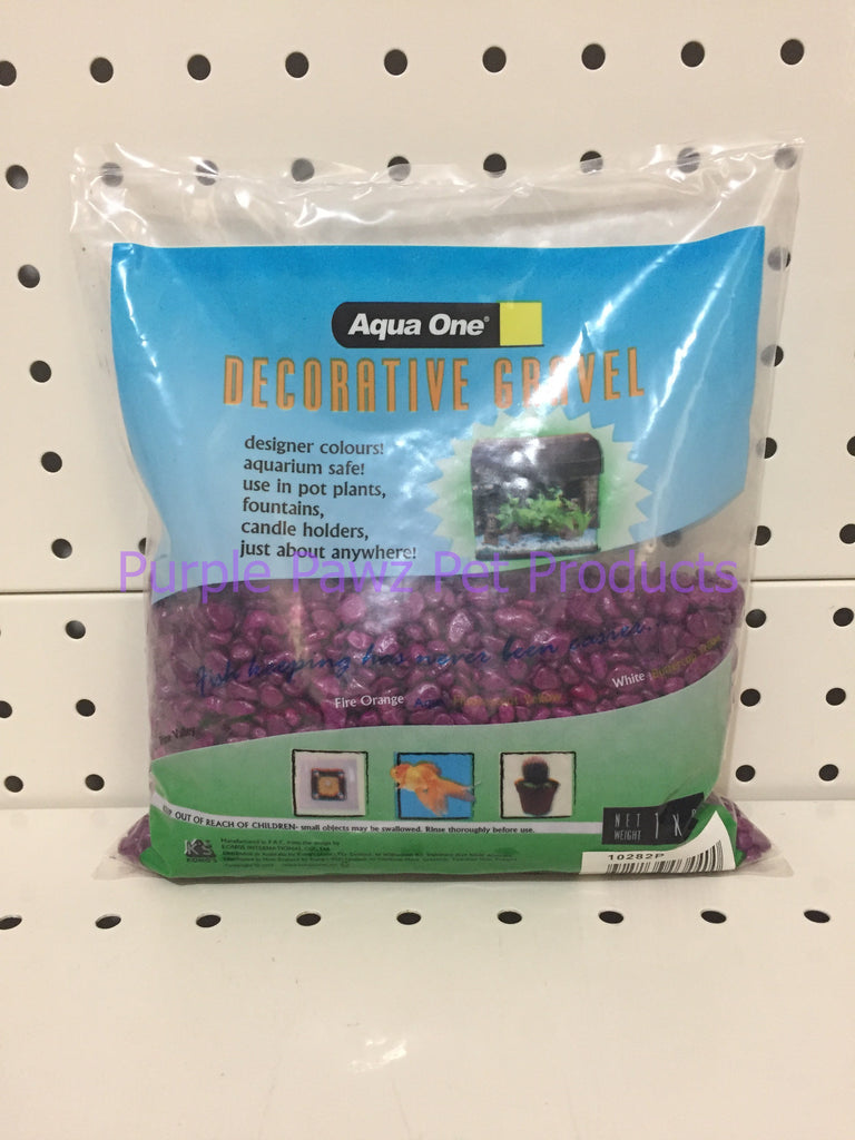 ~AQUA ONE / DECORATIVE GRAVEL / 1KG BAG / PURPLE~