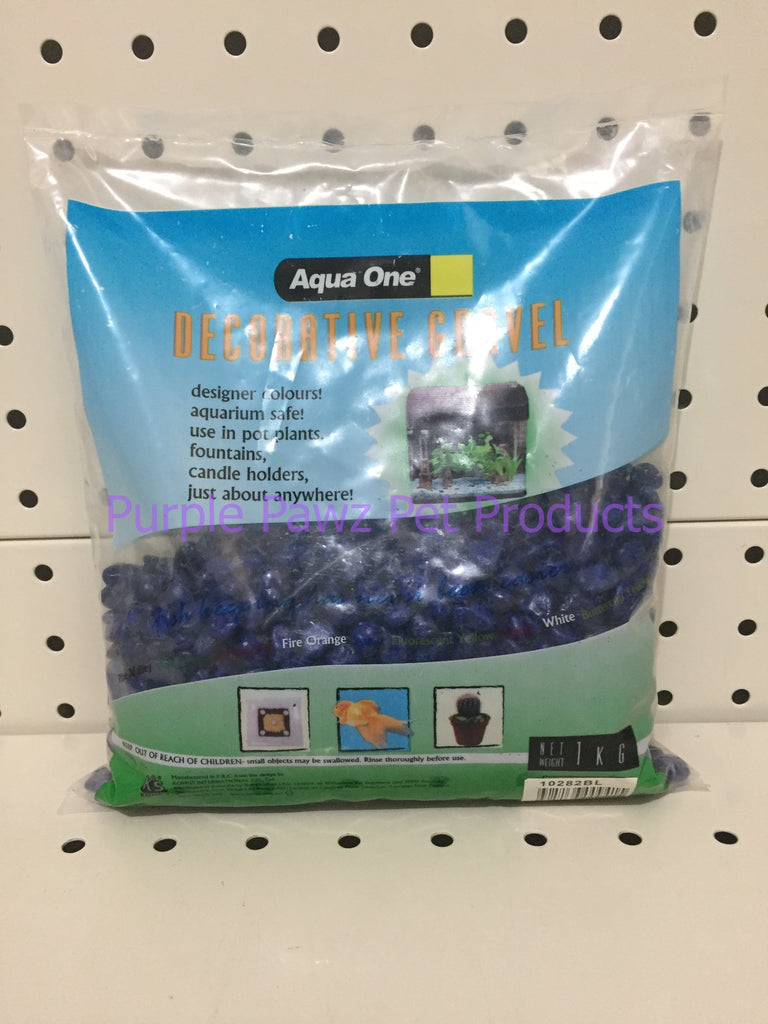 ~AQUA ONE / DECORATIVE GRAVEL / 1KG BAG / DEEP BLUE~