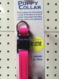 ~NYLON PUPPY COLLARS WITH REFLECTIVE THREAD 4 COLOURS~