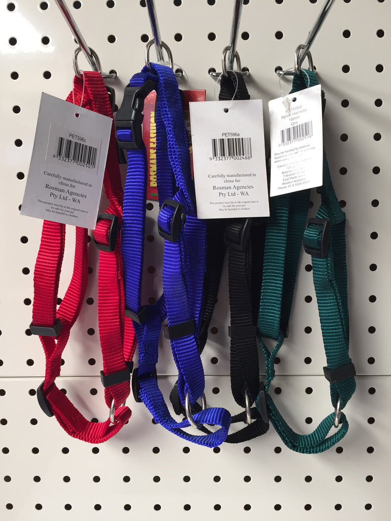 ~NYLON ADJUSTABLE DOG HARNESS SMALL 4 COLOURS~