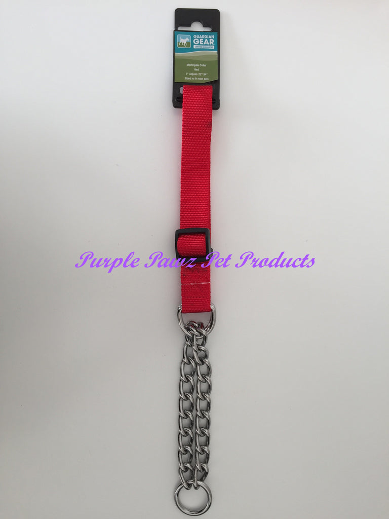 "~GUARDIAN GEAR MARTINGALE COLLAR RED 22""-34""~"