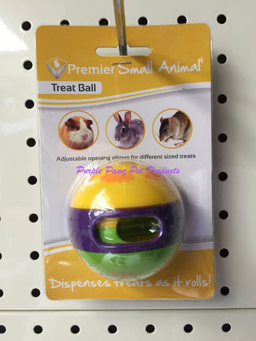 ~RABBIT SML ANIMAL PLASTIC TREAT BALL 6CM~