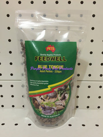 ~PETS / FEEDWELL / BLUE TONGUE / ADULT / PELLETS / 220G~