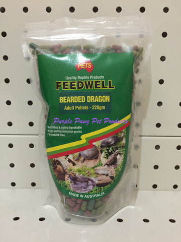 ~PETS / FEEDWELL / BEARDED DRAGON / ADULT PELLETS / 220G~