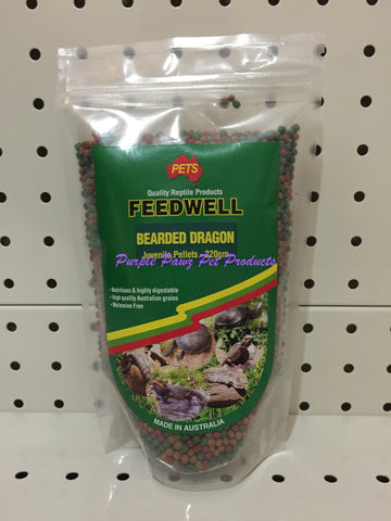 ~PETS / FEEDWELL / BEARDED DRAGON / JUVENILE PELLETS / 220G~