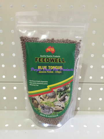 ~PETS / FEEDWELL / BLUE TONGUE / JUVENILE / PELLETS / 220G~