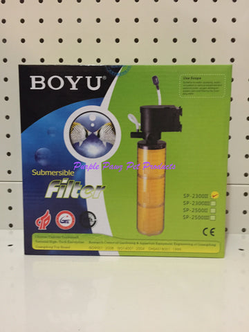 ~BOYU SUBMERSIBLE AQUARIUM FILTER 1200 L/H~