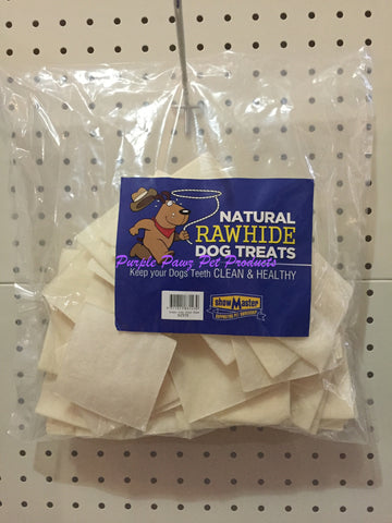 ~NATURAL RAWHIDE DOG TREATS / 50 PK / PUPPY CHIPS~