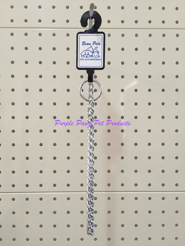 ~BEAU PETS DOG CHECK / CHOKER CHAIN MEDIUM 45CM~
