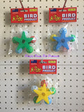 ~SPINNING PERCH STAR BIRD TOY 2 COLOURS~