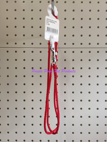 ~BEAU PETS / NYLON / CORD / DOG SHOW LEAD / W/CLIP / 4MM x 110CM / RED~