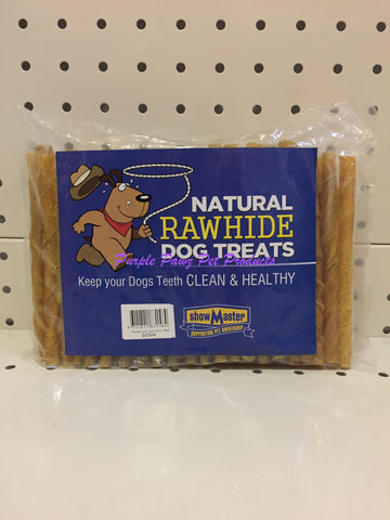 "~NATURAL RAWHIDE / DOG TREATS / 100 PK / CHICKEN TWIST STICKS / 5""~"