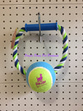 ~SCOOBY-DOO ROPE WITH TENNIS BALL DOG TOY~