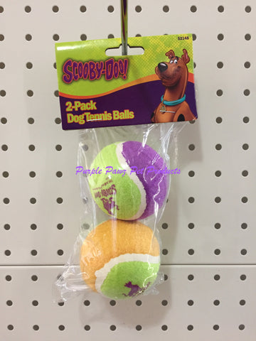 ~SCOOBY-DOO TENNIS BALLS DOG TOY PACK OF 2~