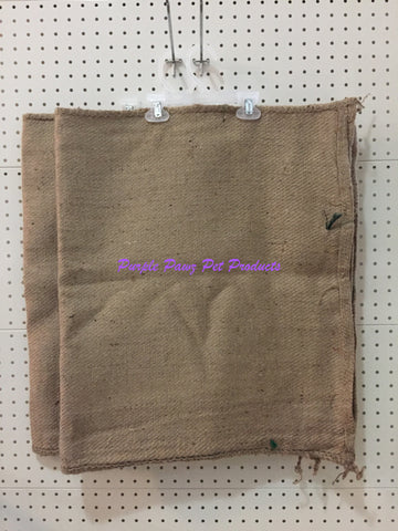 "~2 x DOG BED COVER / HESSIAN / LARGE / 42"" x 29""~"