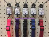 ~BEAU PETS POLYWARE ADJUSTABLE DOG COLLARS / 5 COLOURS / 20MM x 28CM-45CM~