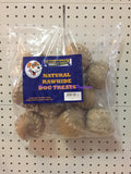 ~NATURAL RAWHIDE / DOG TREATS / BASEBALL / 10PK~