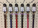 ~DELUXE LEATHER DOG COLLARS / PLAIN / 30CM / 6 COLOURS~